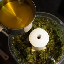 olive oil in