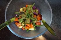 pesto in salad
