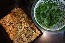 roasted cashews and basil