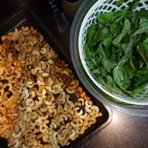 roasted cashews and basil